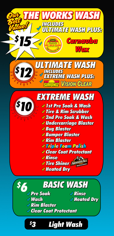 Car Wash Near Me Prices >> Services Prices Sycamore 3 Express Car Wash